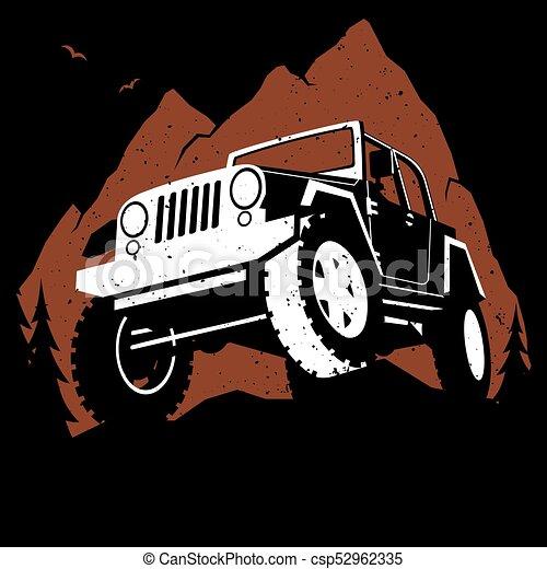 Montañas off-road - csp52962335