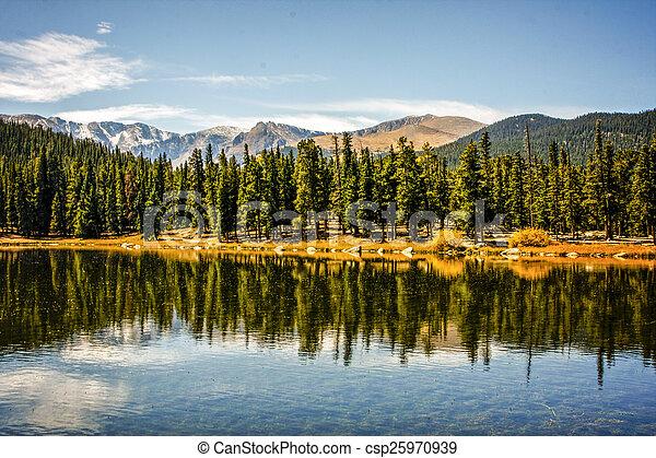 El parque nacional de Rocky Mountain - csp25970939