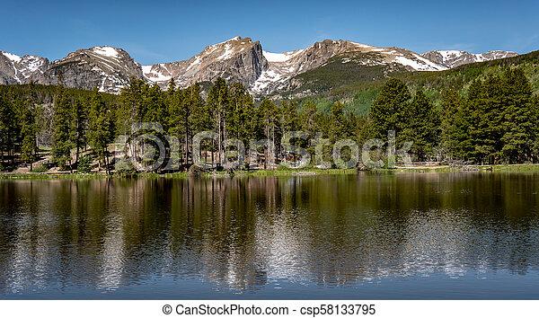 El parque nacional de Rocky Mountain - csp58133795