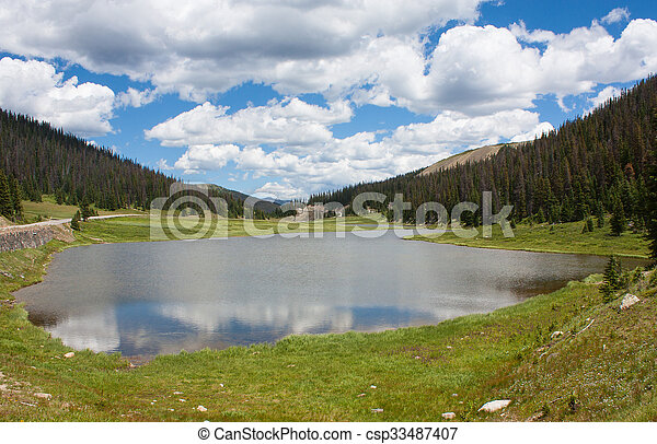 Lago en Rocky Mountain National Park - csp33487407