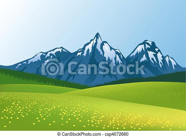 montaña, plano de fondo - csp4072660