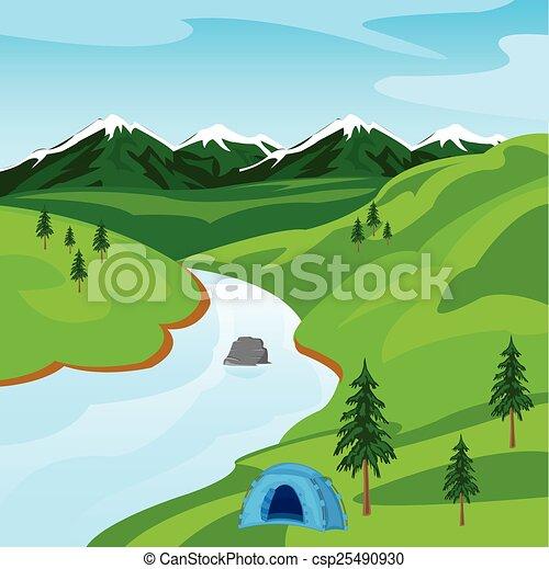 Río en la montaña - csp25490930