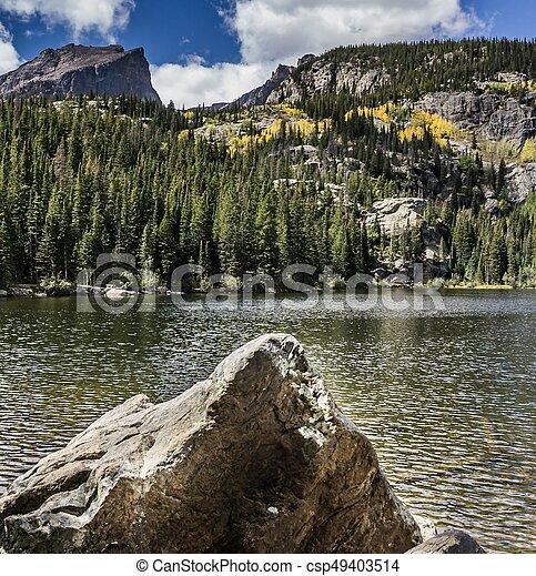 Bear Lake Rocky Mountain National Park Colorado - csp49403514