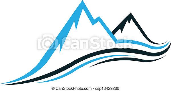montaña, swoosh - csp13429280
