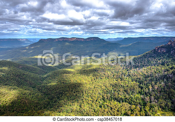 Parque nacional Blue Mountain, Australia - csp38457018