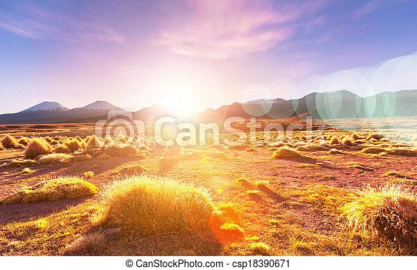 montañas, bolivia - csp18390671