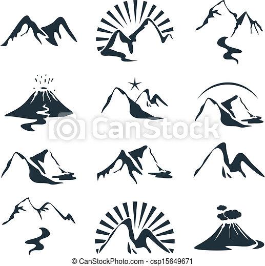 montañas, conjunto - csp15649671