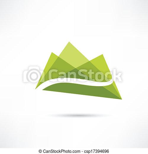 Landscape en el icono de las montañas - csp17394696