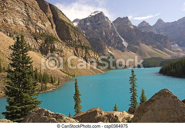 montañas, rocoso - csp0364975
