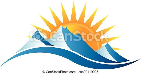 Montañas soleadas - csp29119008