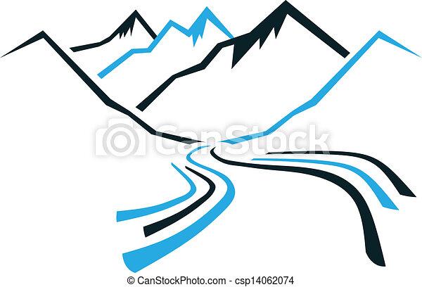 montañas, valle - csp14062074