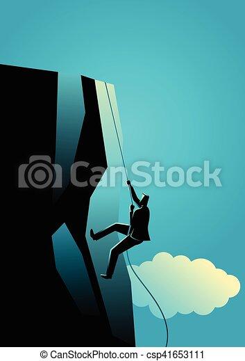 Subiendo a la cima - csp41653111