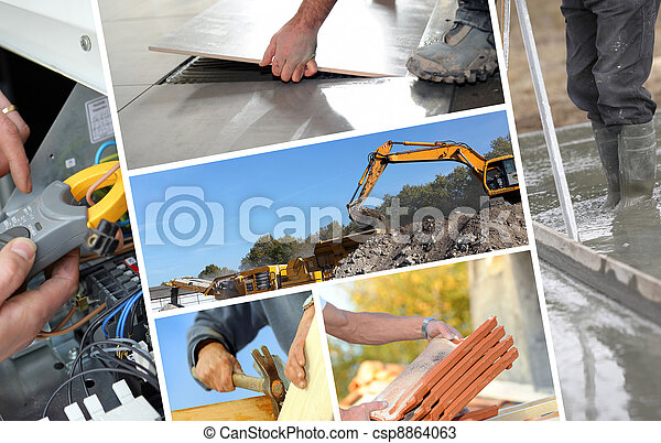 montage, construction - csp8864063