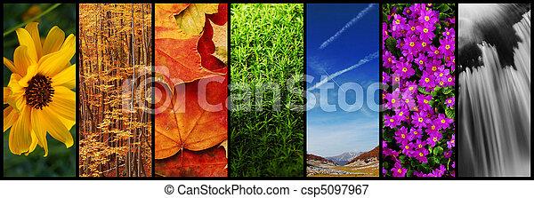 montage, natur - csp5097967