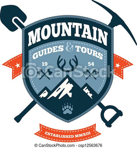 montagna, emblema - csp12563676