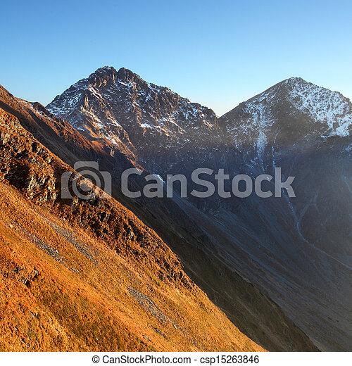 montagna, ovest, hight, rohace, tatra., raggio sole - csp15263846