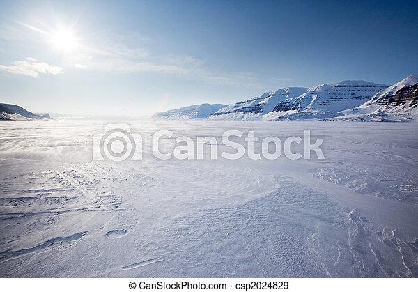 montagna, paesaggio inverno - csp2024829