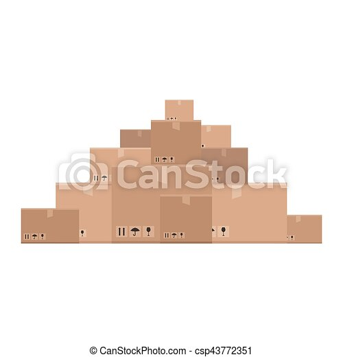 montagna, scatole - csp43772351
