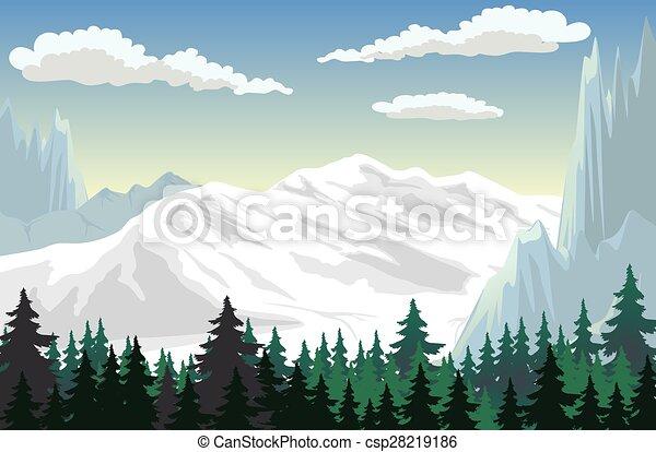 montagna, scena - csp28219186