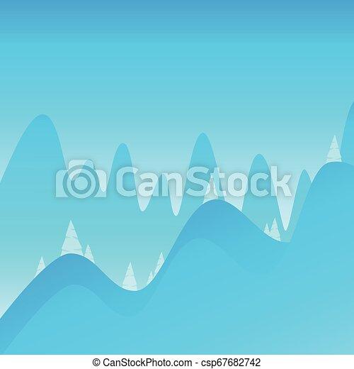 montagne, andando gita, decorazione, fondo, rampicante, paesaggio - csp67682742