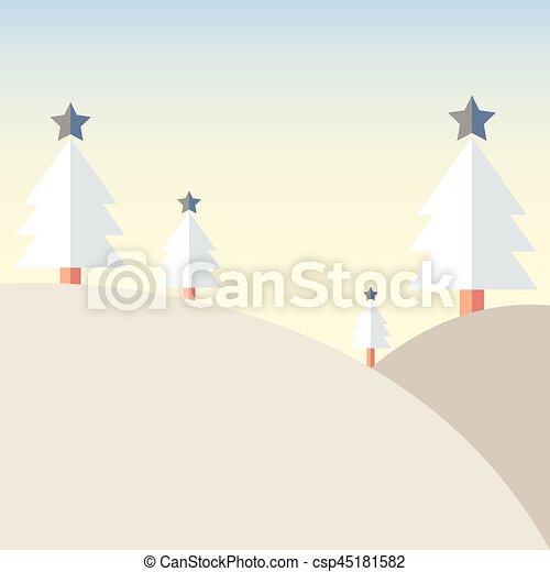 Montagne Arbre Neige Noel