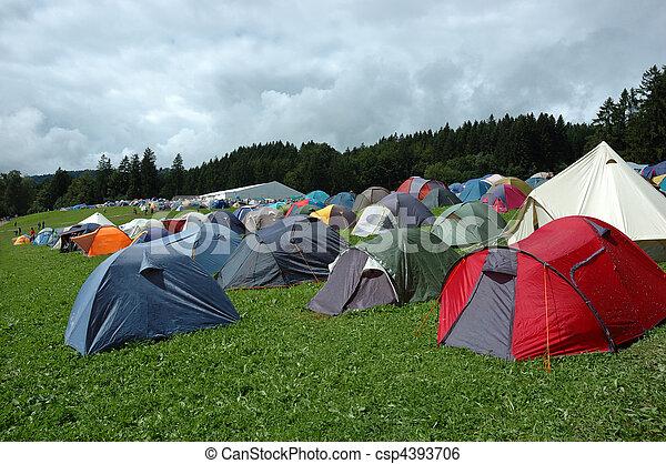 montagne, campeggio - csp4393706