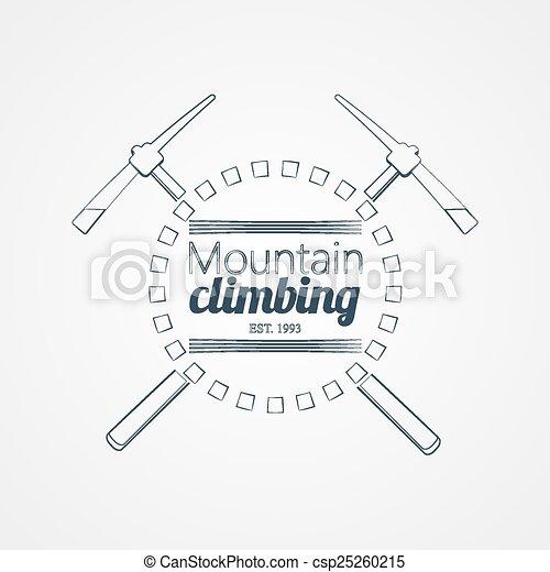 montagne, climbing. - csp25260215