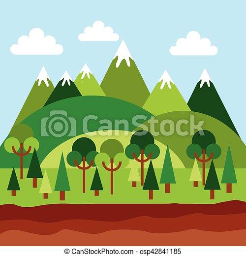 Paesaggio Di Montagna Disegno.Montagne Disegno Paesaggio Montagne Eps10 Colorito Paesaggio