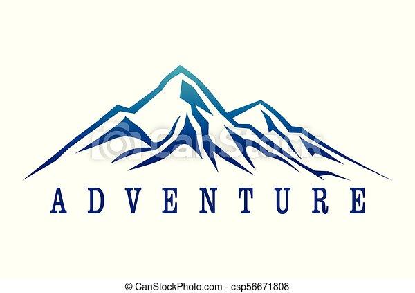 montagne, dsign, aventure, logo - csp56671808