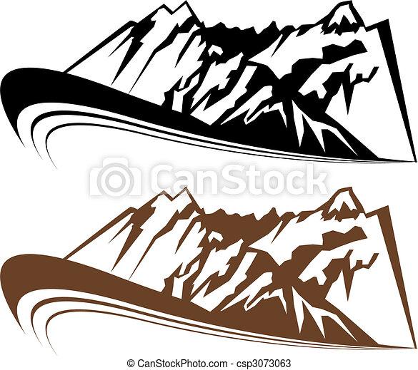 montagne, ensemble, vent - csp3073063