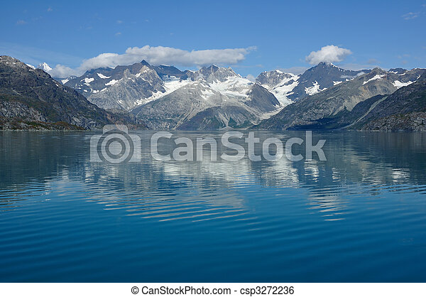 montagne, ghiacciaio, nazionale, alaska, baia, parco - csp3272236