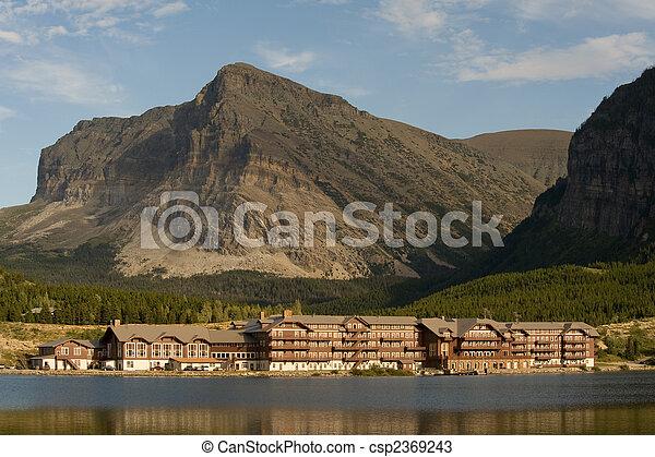 montagne, hôtel - csp2369243