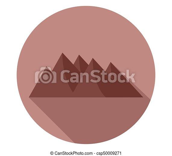 montagne, icône - csp50009271