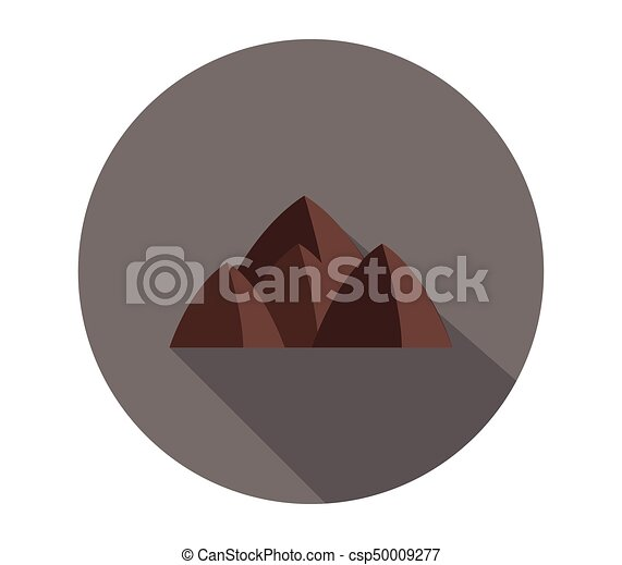 montagne, icône - csp50009277