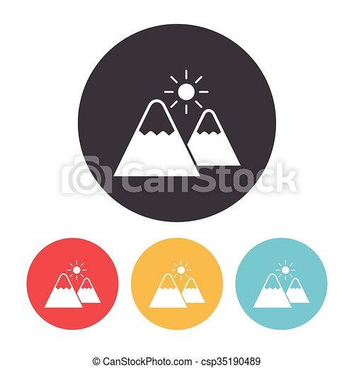 montagne, icône - csp35190489