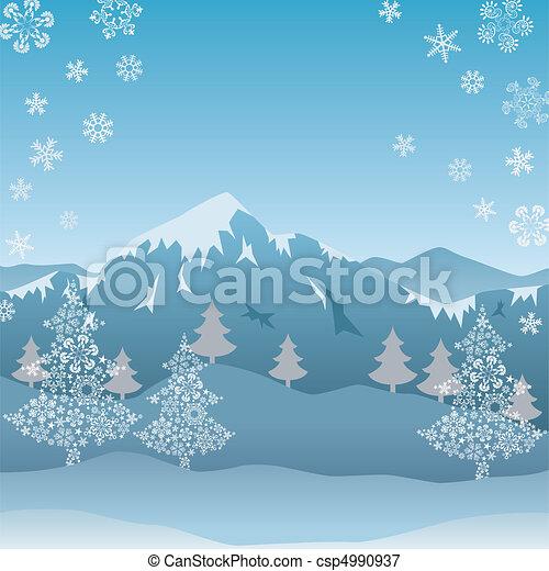 montagne, neige - csp4990937