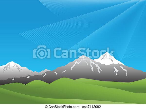 montagne, paesaggio - csp7412092