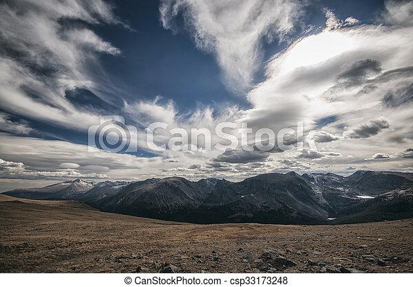 montagne, parco nazionale, roccioso, paesaggio - csp33173248