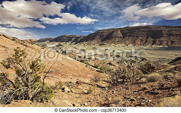 montagne, roccioso, nazionale, utah, parco, archi - csp36713400