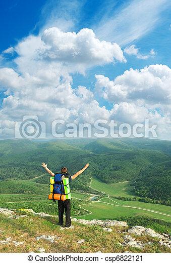 montagne, touriste - csp6822121