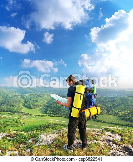 montagne, touriste - csp6822541