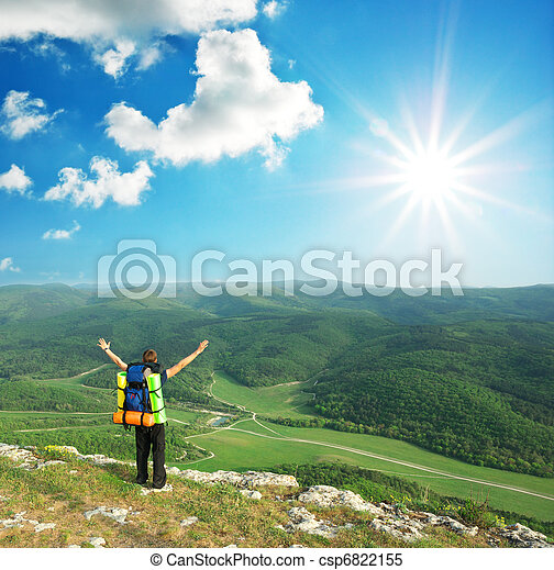 montagne, touriste - csp6822155
