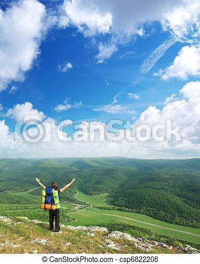 montagne, touriste - csp6822208