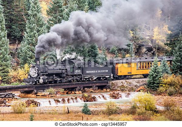 montagne, train - csp13445957