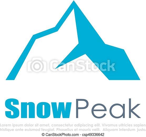 montagne, vecteur, neige, icône - csp49336642