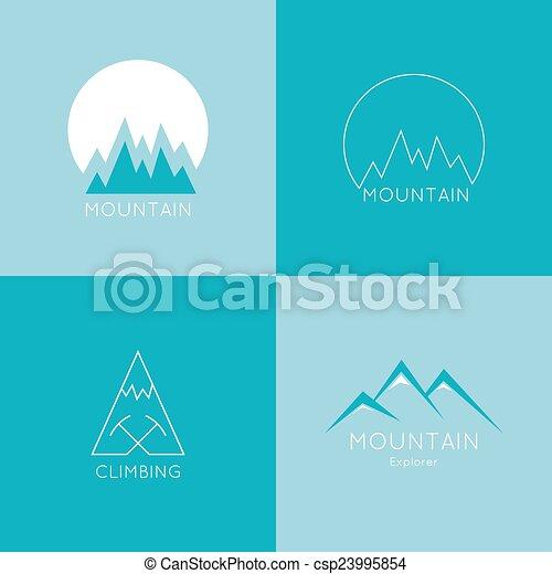 montagnes, box. - csp23995854