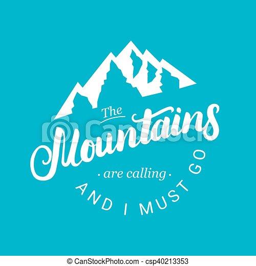 montagnes, devoir, go., appeler - csp40213353