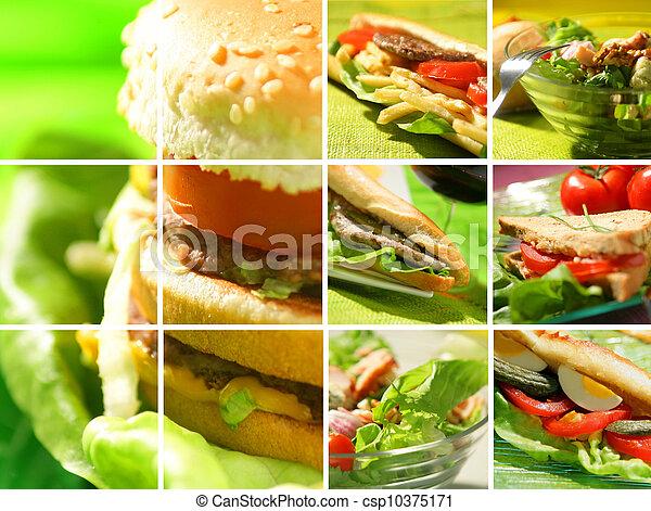 Montaje de comida para picar - csp10375171