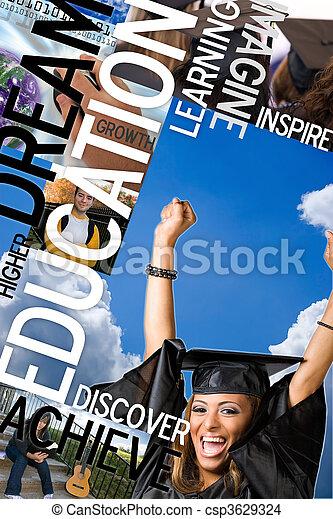 Montaje de educación - csp3629324