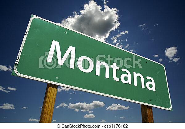 Montana Road Sign - csp1176162